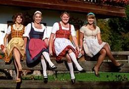 At the Oktoberfest - What better place to wear the traditional attire than at a traditional festival?