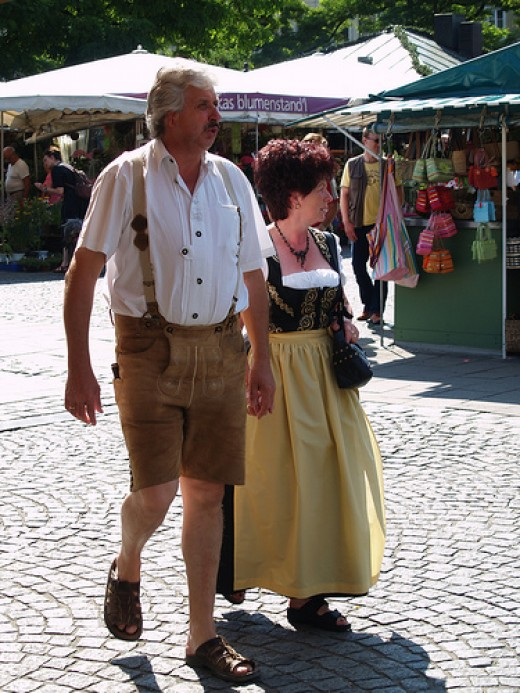 Dindl and Lederhosen - Many older people in Germany still wear the traditional attire daily