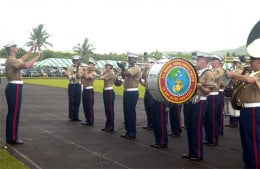 Marine Band playing at American Samoa Flag Day