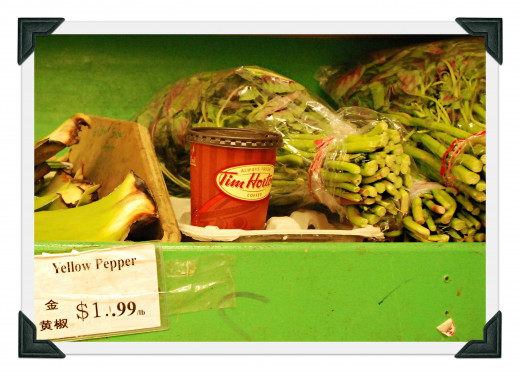Tim Hortons Coffee INSPIRE you to buy vegetables.