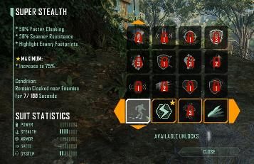 Crysis 3 Nanosuit Unlock Modules and Level Up
