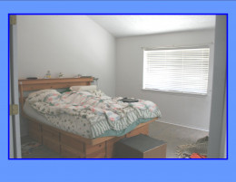 Master bedroom (California King bed and still lots of room!)  No shown huge walk in closet with skylight.