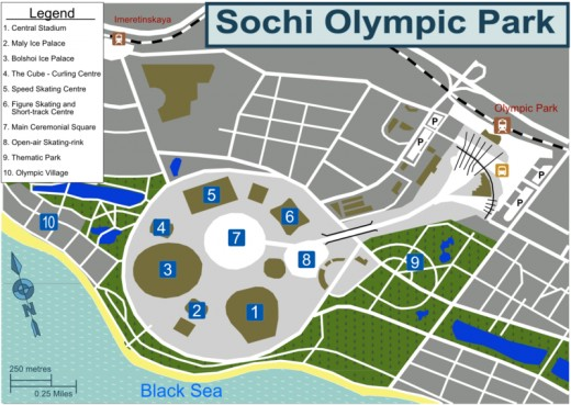 Sochi is the site of the 2014 Winter Olympics.
