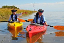 Kayaking can be a great source of fun and exercise to stay healthy.
