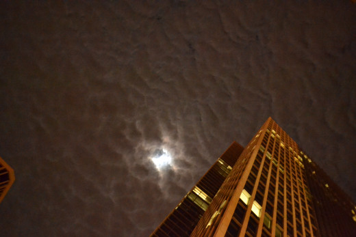 Cloudy night in Honolulu.