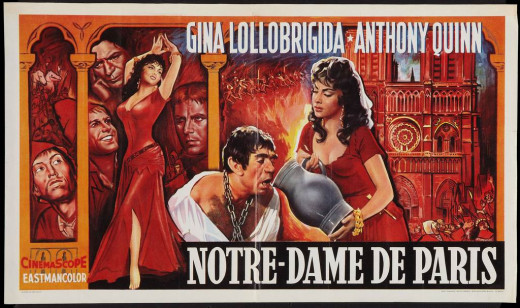 The Hunchback of Notre Dame (1956) poster