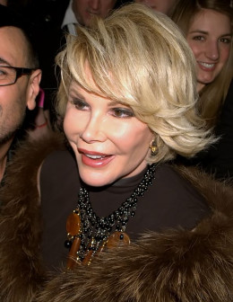 Joan Rivers today in 2010. Cosmetic surgeries have masked her age well, but they can't re-create her natural beauty.