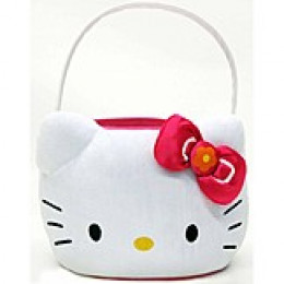 plush Hello Kitty Easter basket