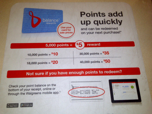 Walgreens Balance Rewards points for cash