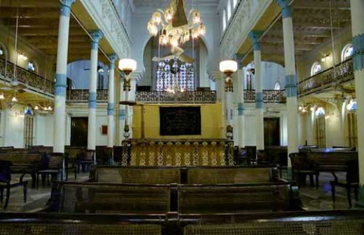 Interior of a Synagogue in India (Beth El Synagogue, Calcutta)