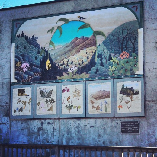 Mural in Blowing Rock, North Carolina.