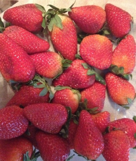 Strawberries are high in fiber