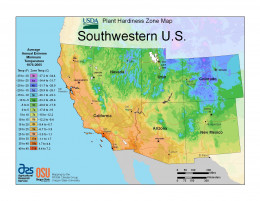 A South West PHZM downloaded from the USDA website at medium resolution.