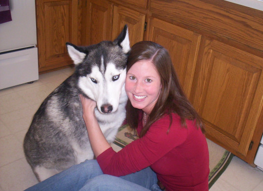 Myself and My Husky At 1 Year Old