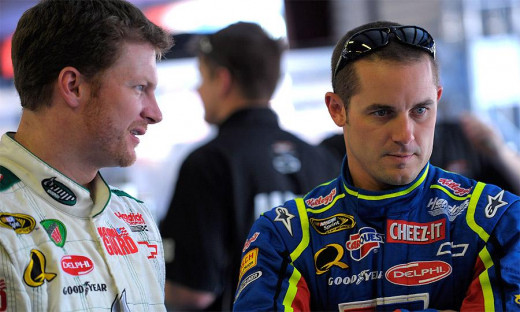 """""""Hey. A few years from now when you're start and parking, would you mind not blocking me at Phoenix? I'd like to win a race or two before I retire."""""""