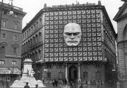 The headquarters of Benito Mussolini and the Italian Fascist party in Italy, 1934.