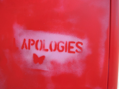 Only a sincere apology will work