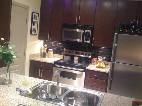 Consider a stainless microwave as part of a home improvement project