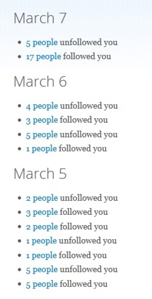 unfollowers.me tracks follows and unfollows on your account.