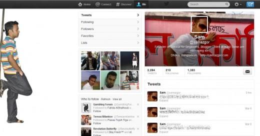 Twitter Profile of Sam Azgor