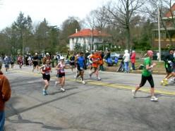 Runners in the Boston Marathon