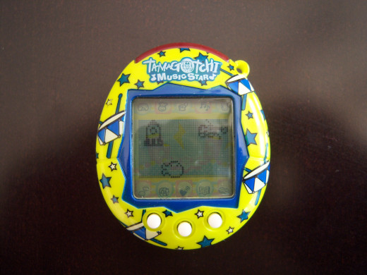 "This is my Tamagotchi Music Star that I've been playing with recently.  The Tamagotchi Music Star is the most recent ""traditional-sized"" Tamagotchi that has been released in the United States."