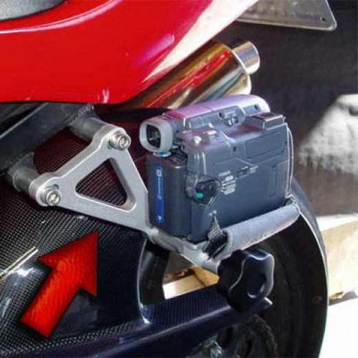 A motorcycle camera mount is often used in recreational, stunt and trick photography, and on the racetrack as a way to record a ride for posterity or memories.