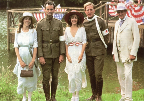 Some of the main characters.  From left to right: Theresa Russell, Bill Murray, Catherine Hicks, James Keach, and Denholm Elliot