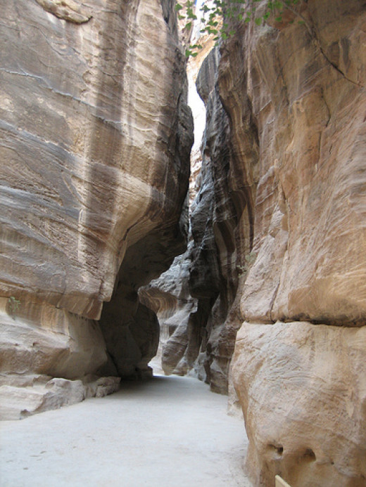Entrance or Siq of Petra