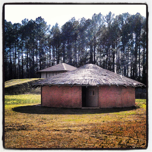 Burial House at the Town Creek Indian Mound, Mt. Gilead, NC