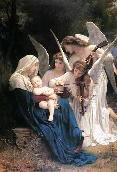 William-Adolphe Bouguereau (1825-1905) - Song of the Angels (1881)