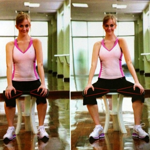 Sample workout using the toner.