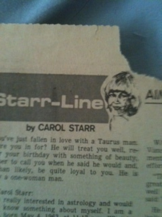 One of my columns--I was the Dear Abby of the Astrology world