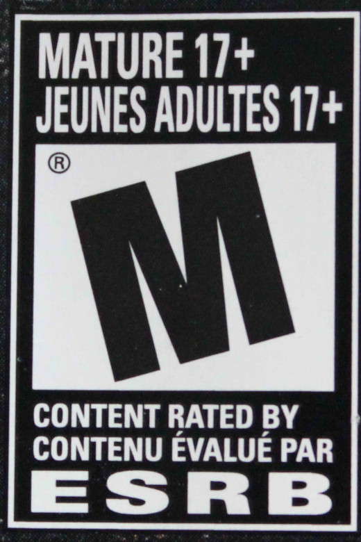 Examples of how the warning label on games in Canada look like.