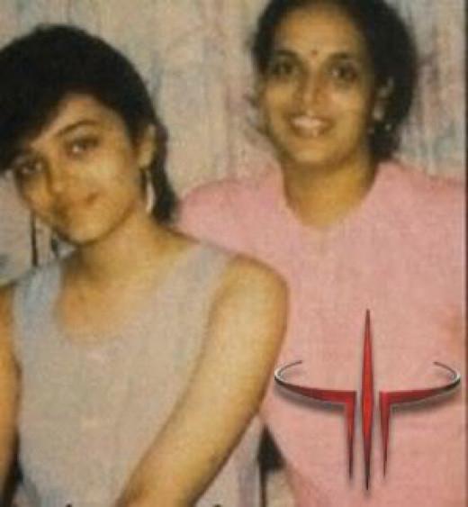 Aishwarya Rai Bachchan with her Mom