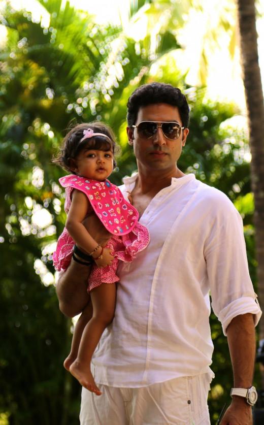 Abhishek with Aaradhya