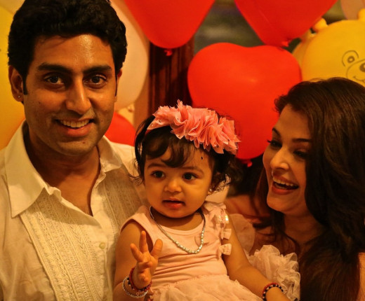 Aishwarya Rai with Abhishek and Aaradhya