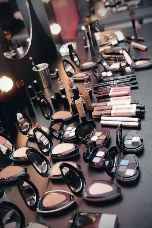 having a large variety of cosmetics was part of my job as a make up artist.