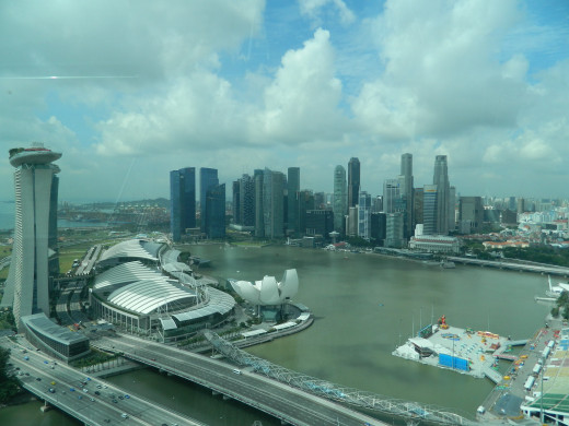 We loved the view  from the Singapore Flyer