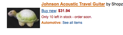 Sell your rare acoustic turtles online.