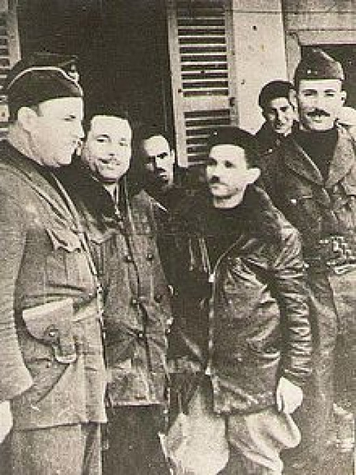 The Algerian Saïd Mohammedi (on the left) served in the SS during the WW2, then joined the Algerian Revolution in 1954