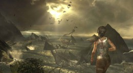 Lara views the wreckage of the ship and then she must find the survivors