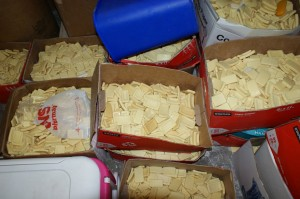 Image: Boxes of Collected Soap