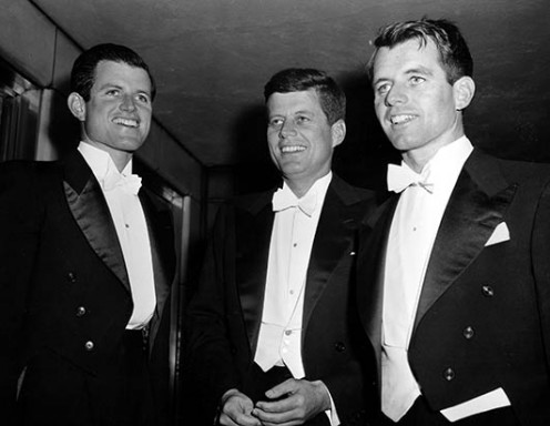 Ted, John and Robert Kennedy in 1958.