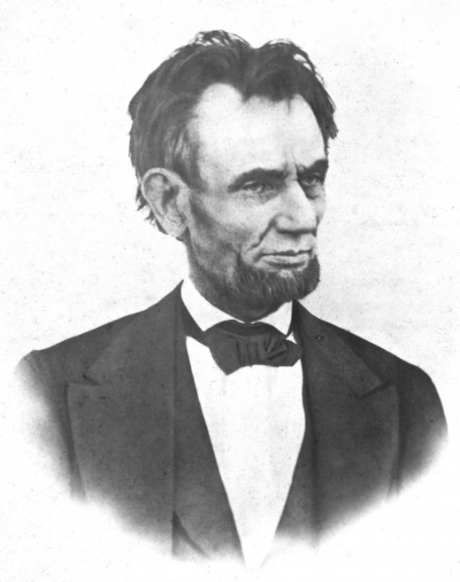 Abraham Lincoln photographed on March 6, 1865.