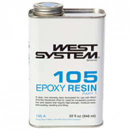 Epoxy.  This particular brand used mainly in the recreational boat-building industry.