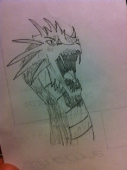 I took a picture of this drawing done by a 16-year-old with no prior drawing experience. I think it looks great!