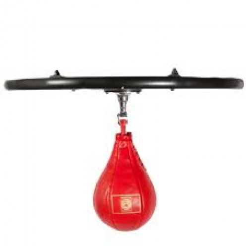 The speed bag helps with hand and eye coordination.
