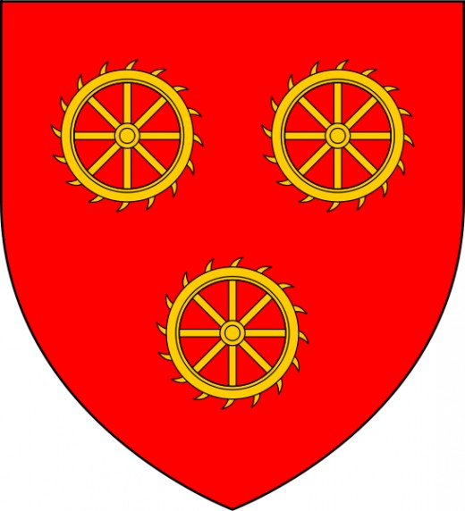 Katherine Swynford's Coat of Arms, the creation of which is discussed in Chapter Twelve of Seton's novel