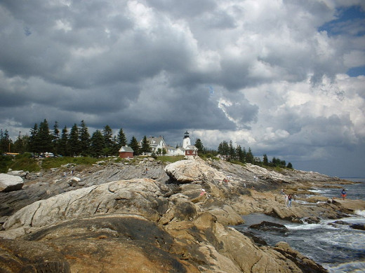 Lighthouse at Pemaquid Point, Maine.